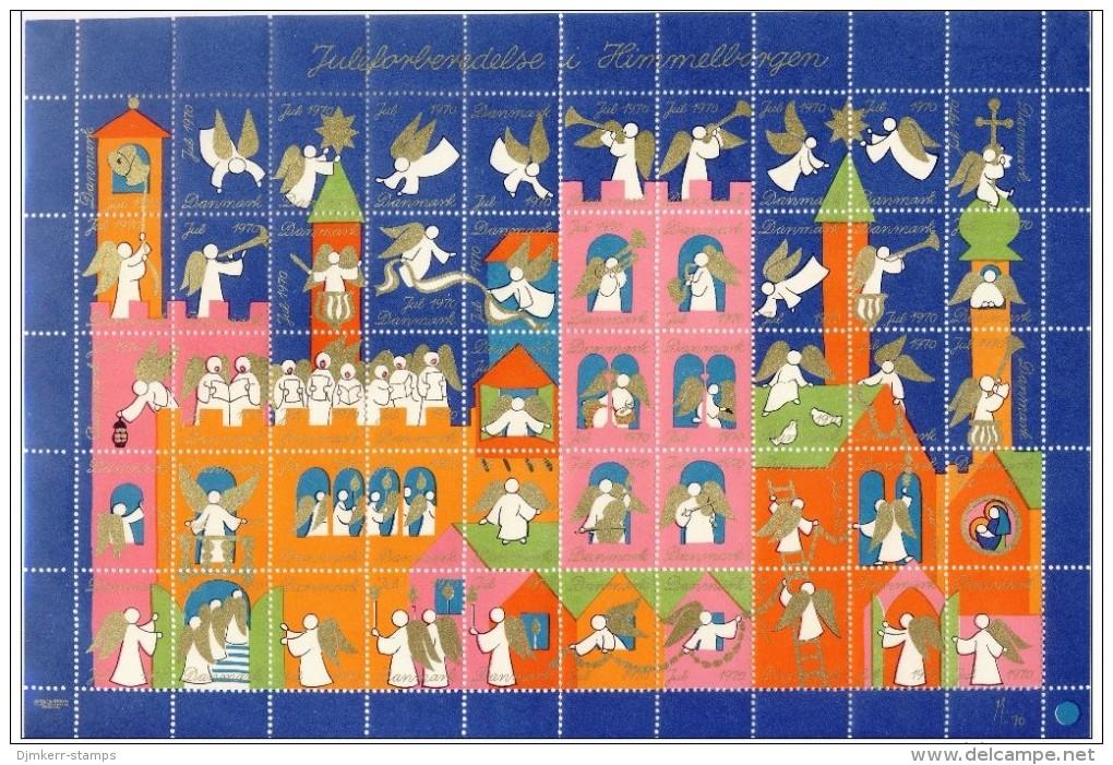 DENMARK 1970 Christmas Seals Complete Unfolded Sheet MNH / ** - Denmark