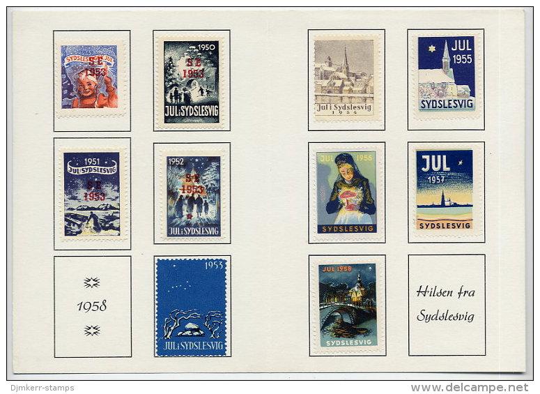 DENMARK (Sydslesvig) 1958 Presentation Folder With Seals From 1953-58 - Denmark