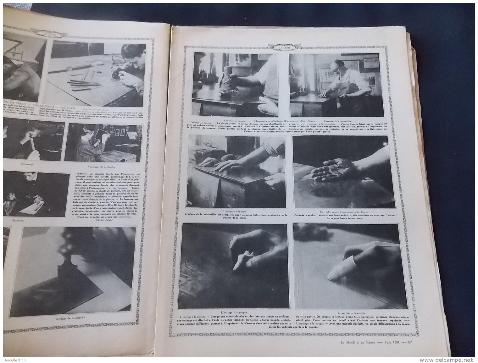 """Le Monde Et La Science N 38 Le Livre """" Imprimerie """" Sadag Boulogne Billancourt """" - Encyclopédies"""