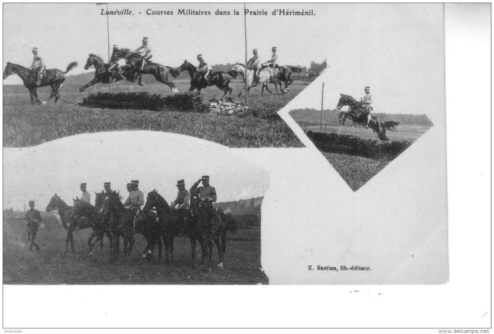 LUNEVILLE Courses Militaires Dans La Prairie D'Hériménil - Luneville