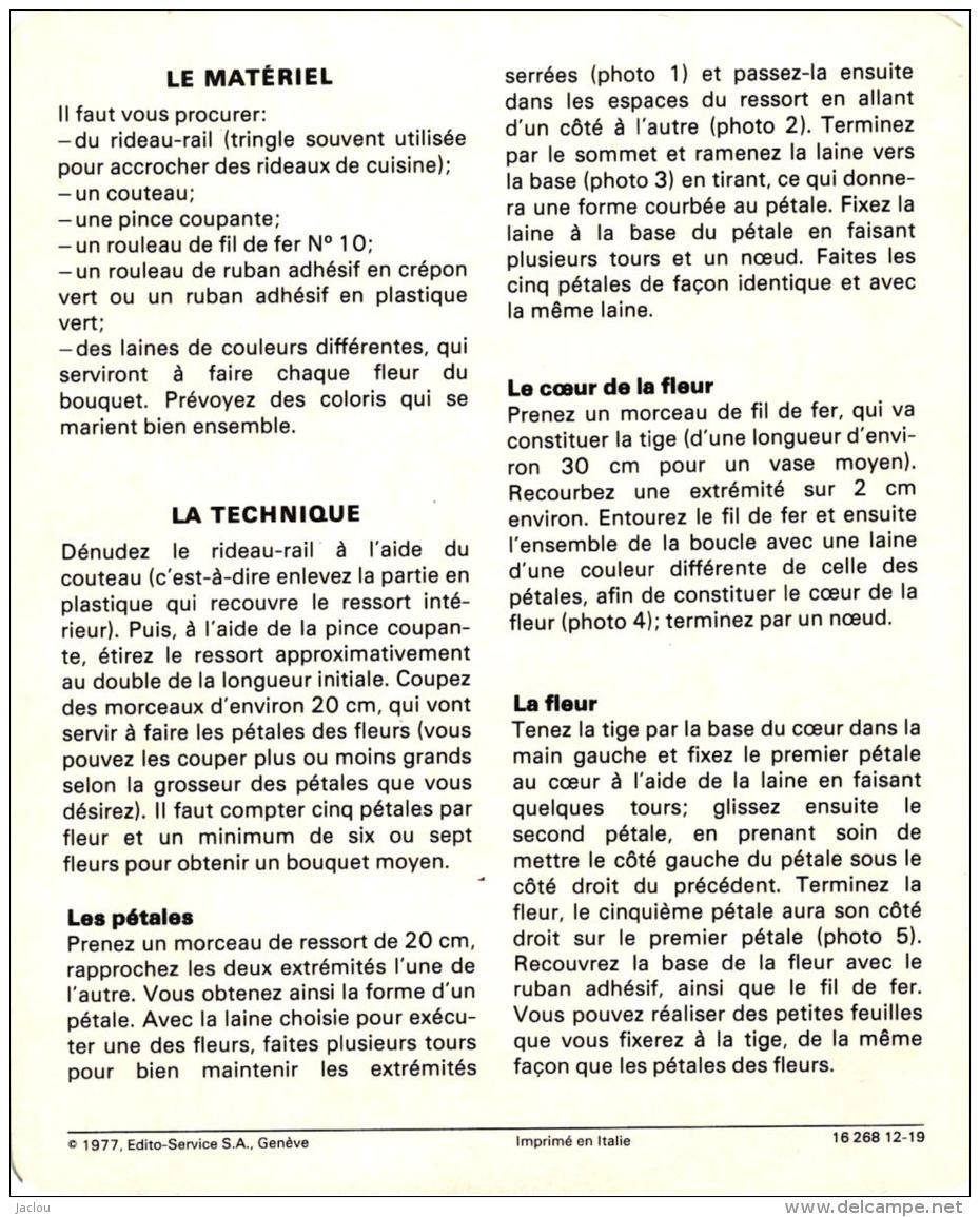 LAINE ET FIL ,FLEURS FICHE TECHNIQUE  REF 48170 - Laine