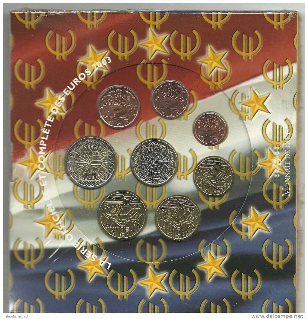 FRANCIA- SERIE DE EUROS AÑO 2003 EN PERFECTA CONSERVACION - Colecciones