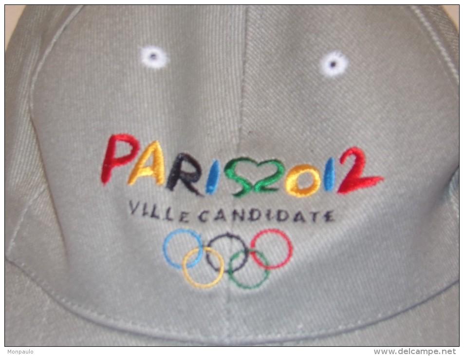 """Publicité. Casquette J.O. Paris Ville Candidate 2012 """"L'Amour Des Jeux"""" (neuf) - Caps"""