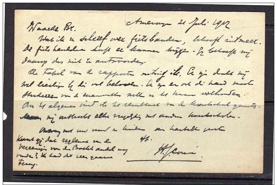 1912 Bestellen Op Zondag Amerongen > Bloemendaal Rijperweg (ap35) - Brieven En Documenten