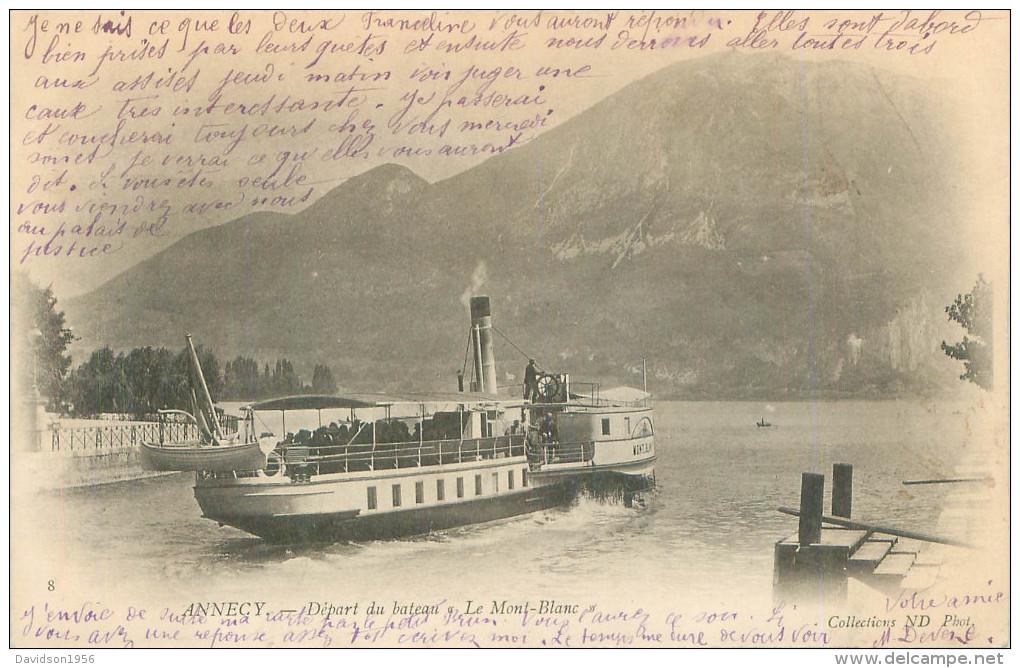 CPA -   Annecy  -   Départ Du Bateau Le  Mont Blanc        Q1154 - Annecy