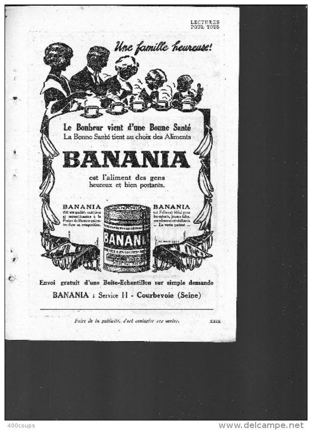 De 1931 - Alimentation - BANANIA - - Pubblicitari