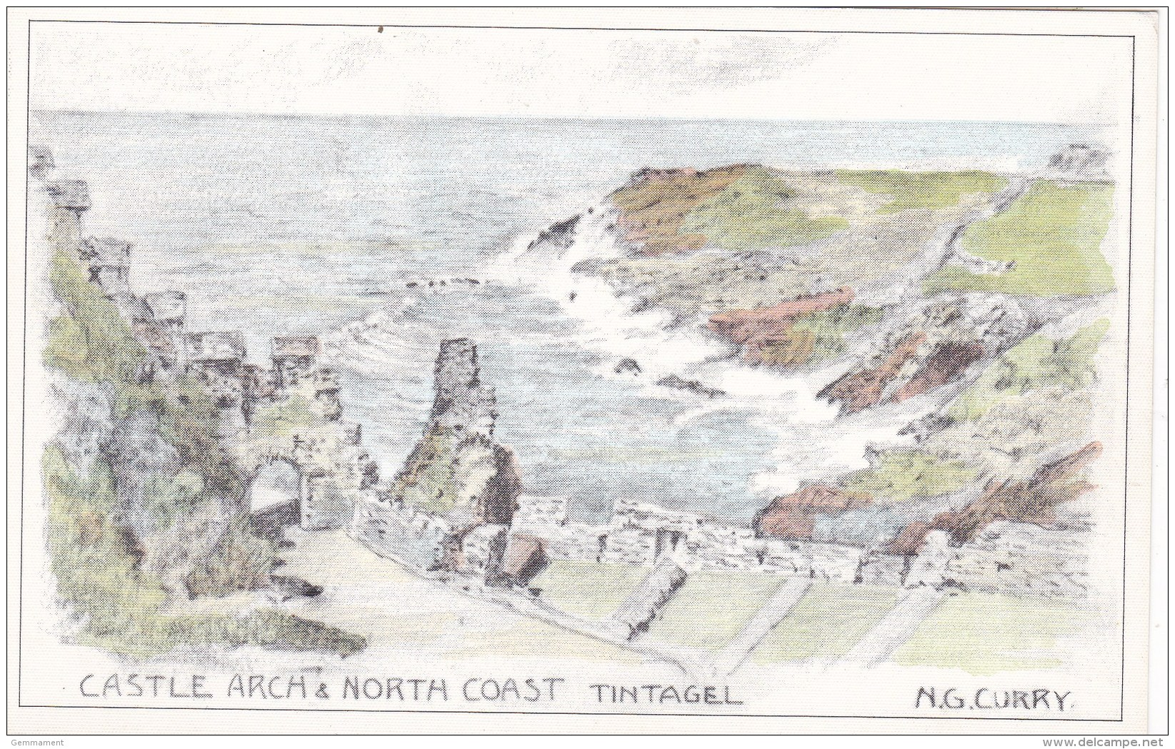 TINTAGEL - CASTLE ARCH @ NORTH COAST. N.G. CURRY - Unclassified