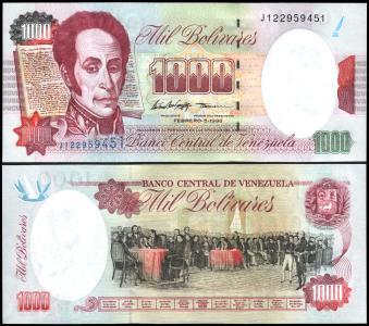 Venezuela #76c, 1.000 Bolívares, 05.02.1998, UNC / NEUF - Venezuela