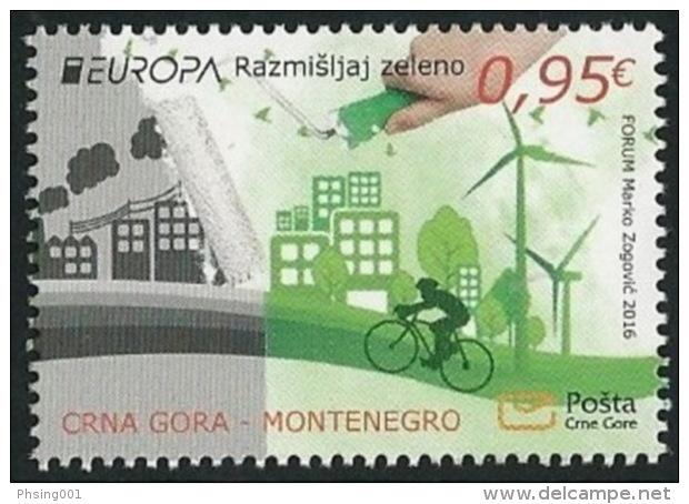 Montenegro 2016 Europa CEPT, Think GREEN, Environment, Bicycle, MNH - Europa-CEPT