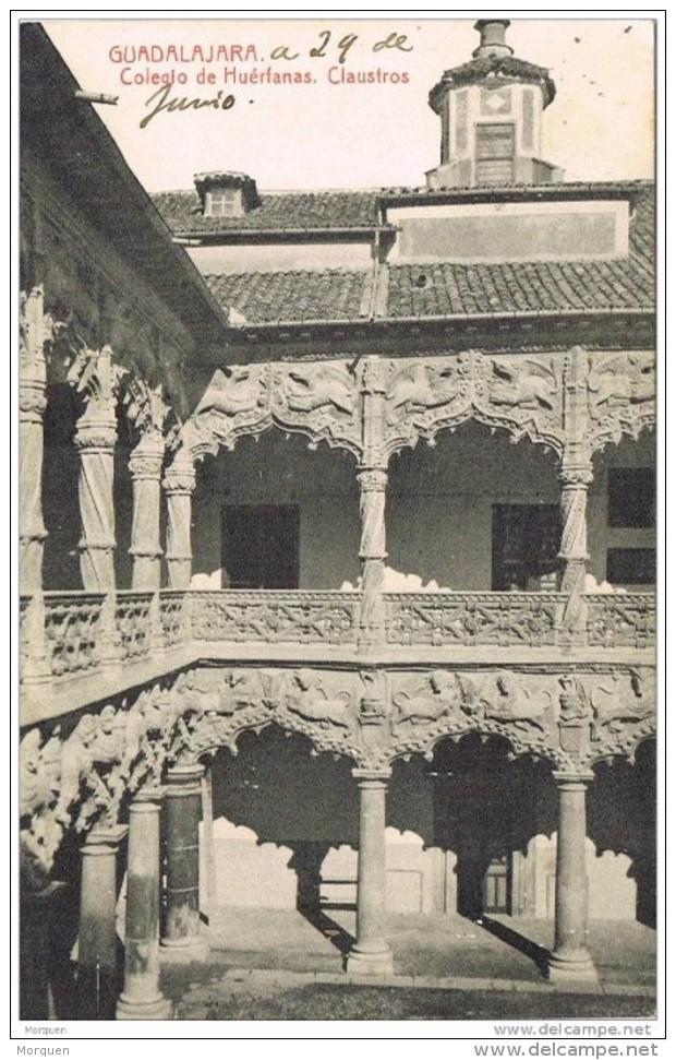19015. Postal GUADALAJARA  1919, Circulada A Mexico. Convento - Cartas