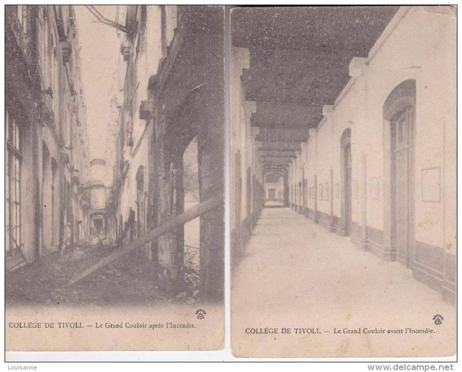 16 / 8 / 140  -  COLLÈGE  DE  TIVOLI  -  LE  GRAND  COULOIR, Avant Et Après L'incendie - Bordeaux