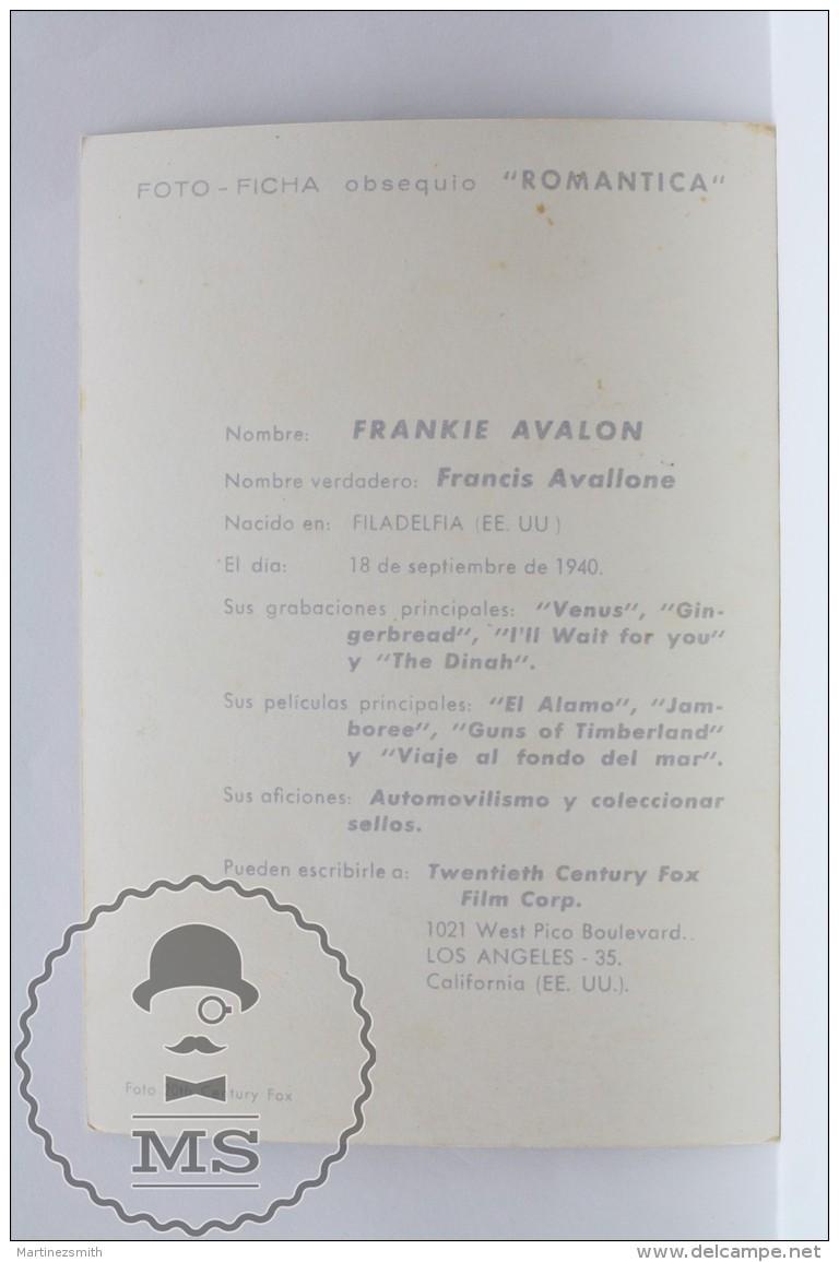 Original Old Cinema/ Movie Promotional Image - Actor: Frankie Avalon - Fotos