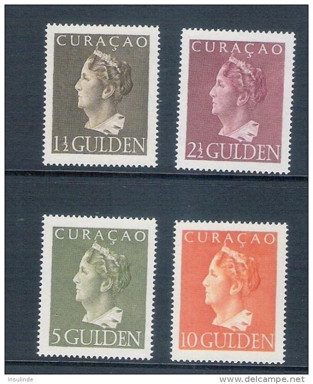 Curacao / Nederland 1947 Kon. Wilhelmina (nvph 178-181) Postfris - Curaçao, Nederlandse Antillen, Aruba