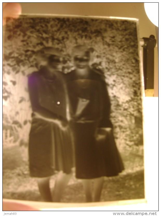 PLAQUE DE VERRE PHOTO JEUNES FEMMES 1914-1918 (LOT Na18) - Diapositiva Su Vetro