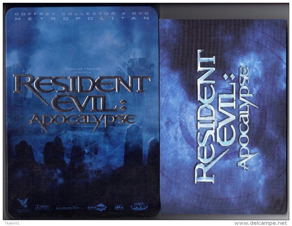 "D-V-D BOITIER METAL   "" RESIDENT EVIL-APOCALYPSE   ""  EDITION  COLLECTOR  2 DVD  AVEC LIVRET - Science-Fiction & Fantasy"