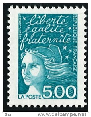 N° 3097  Année 1997  Marianne Du 14 Juillet  Faciale 5,00 Francs - France
