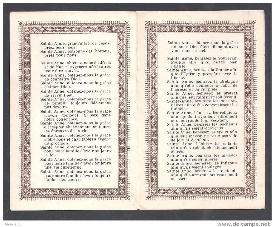 Souvenir De Pèlerinage - Invocations à SAINTE ANNE  - Vannes 1905 - Images Religieuses