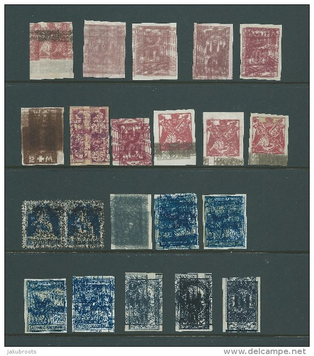 1921. POLAND / LITHUANIA PRINTERS TRIAL  / MAKULATURA 21  STAMPS - ....-1919 Übergangsregierung