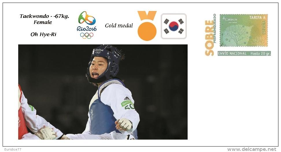 Spain 2016 - Olympic Games Rio 2016 - Gold Medal Taekwondo Female South Korea Cover - Juegos Olímpicos