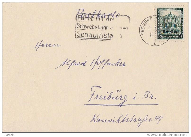 DR Karte EF Minr.463 Freiburg 2.10.32 - Deutschland