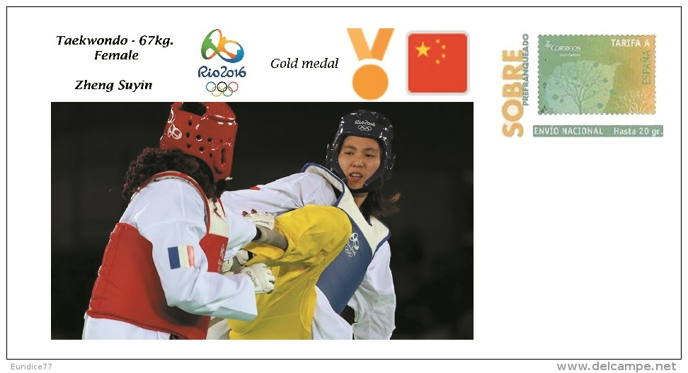 Spain 2016 - Olympic Games Rio 2016 - Gold Medal - Taekwondo Female China Cover - Juegos Olímpicos