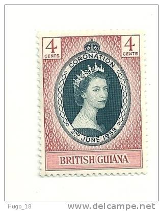 1953 QUEEN ELIZABETH CORONATION   BRITISH GUIANA - Britisch-Guayana (...-1966)