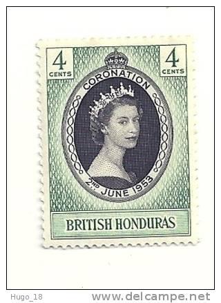 1953 QUEEN ELIZABETH CORONATION   BRITISH  HONDURAS - Britisch-Honduras (...-1970)