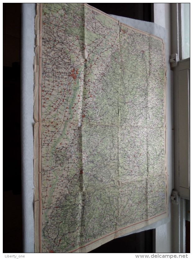 """ SCHWARZWALD "" 1/200.000 ( Gaebler's Leipzig ) !! DETAILS !! ( Zie Foto´s ) ! - Mapas Geográficas"