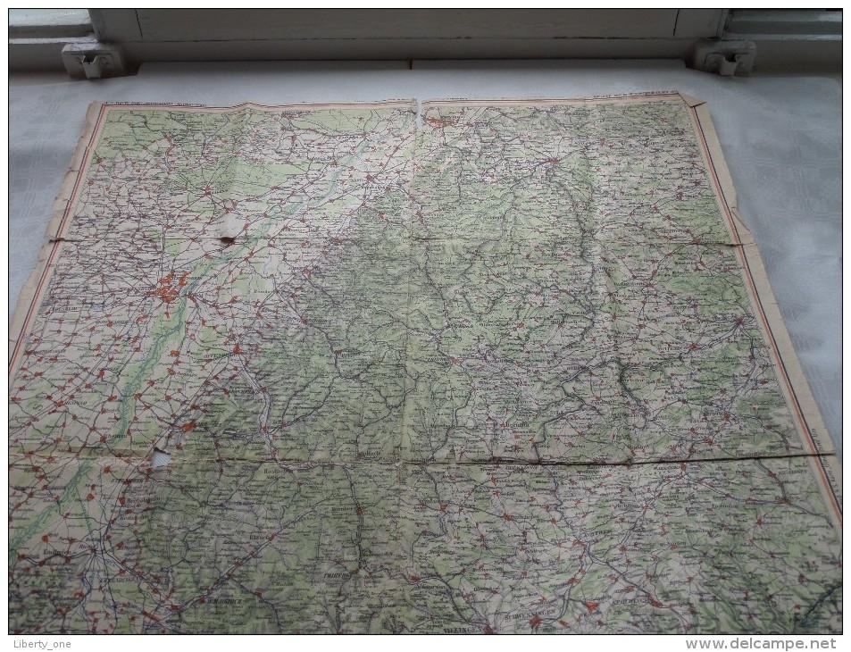 """"""" SCHWARZWALD """" 1/200.000 ( Gaebler's Leipzig ) !! DETAILS !! ( Zie Foto´s ) ! - Geographical Maps"""