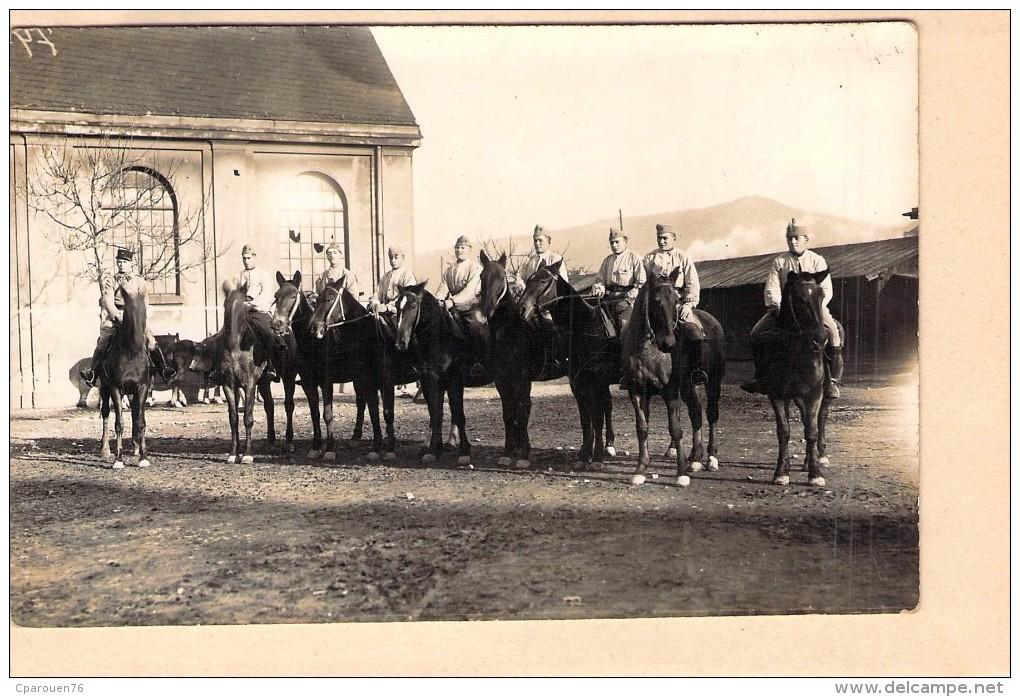 Carte Photo Ancienne Camp De Trèves  1929 Cavaliers - Guerre, Militaire