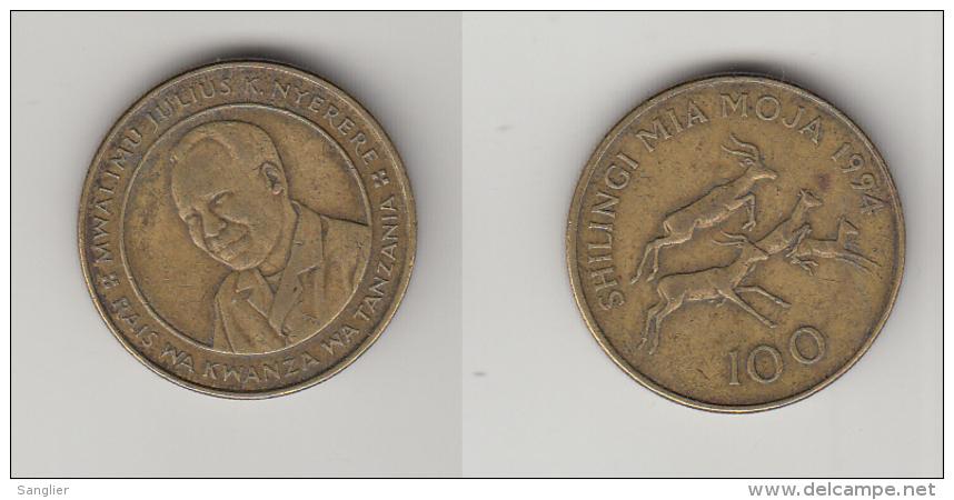 TANZANIE -100 SCHILLINGI  1994 - Tanzania