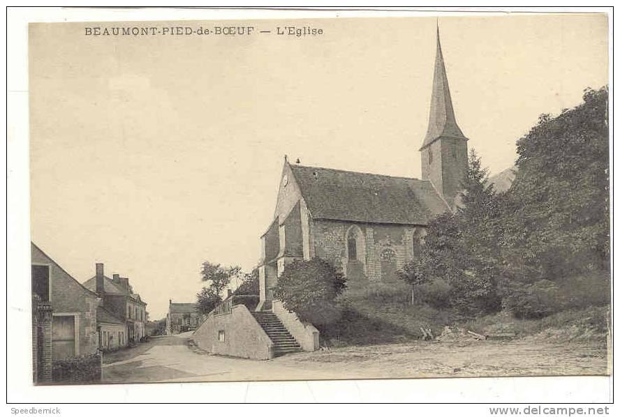 25807 Beaumont-Pied-de-Boeuf  . L´Eglise . Sans éditeur - France