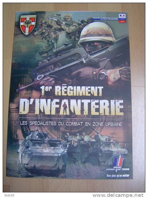 1ER REGIMENT D´INFANTERIE / PLAQUETTE DE PRESENTATION - Books, Magazines  & Catalogs