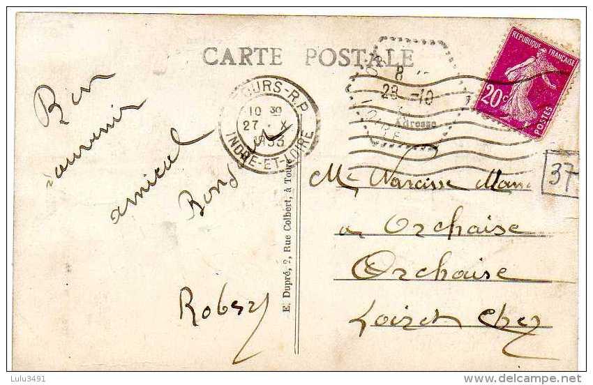 CPA - SAINT-SYMPHOREN (37) - Aspect Du Quartier Tulasne , Camp D´Aviation , Entrée Principale Et Infirmerie En 1933 - France