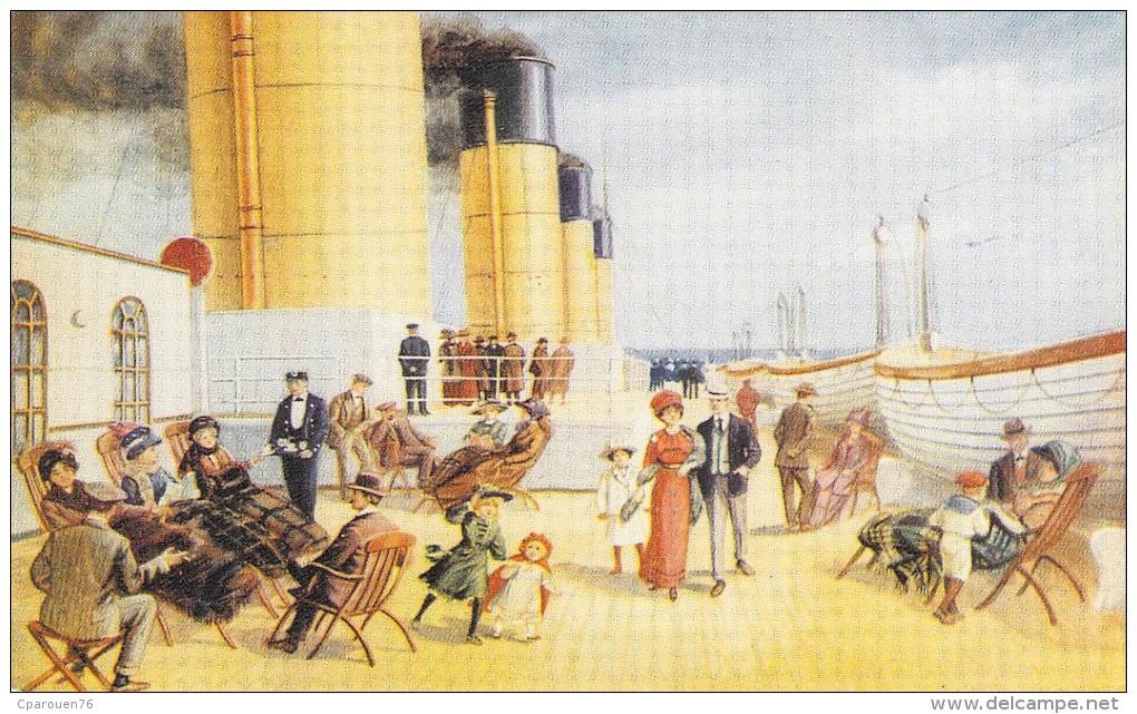 "C P M Bateau Navire Paquebot Pont 2 Eme Classe "" Titanic "" 1911 Paquebot  White Star Britannique - Piroscafi"