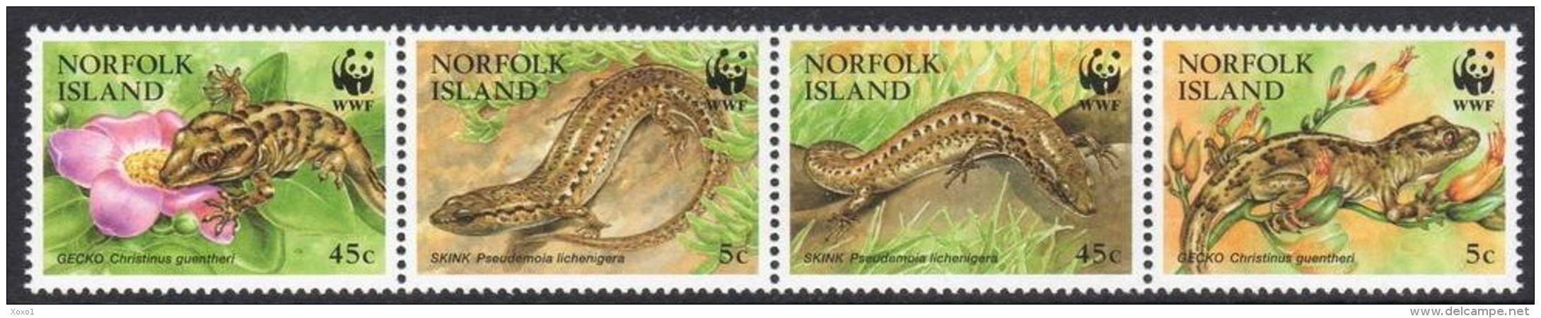 Norfolk 1996 WWF Reptiles 4v MNH** - W.W.F.