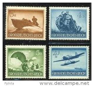 1944 REICH HEROES MEMORIAL DAY MICHEL: 873-875, 882 MNH ** - Ungebraucht