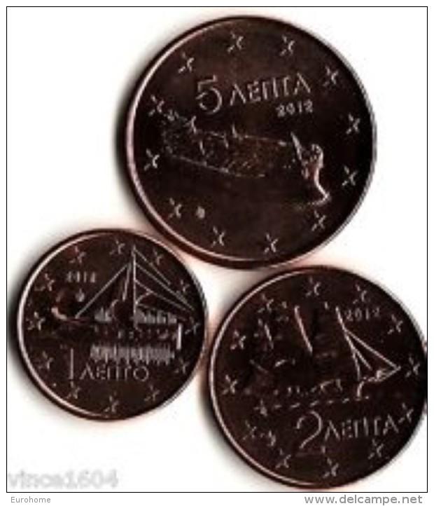 Griekenland    2008    1-2-5 Cent   UNC Uit De Rol  UNC Du Rouleaux  !! - Grèce