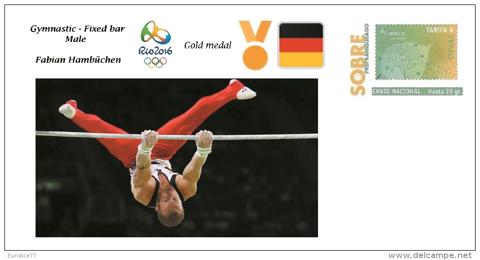 Spain 2016 - Olympic Games Rio 2016 - Gold Medal Gymnastic Male Germany Cover - Juegos Olímpicos