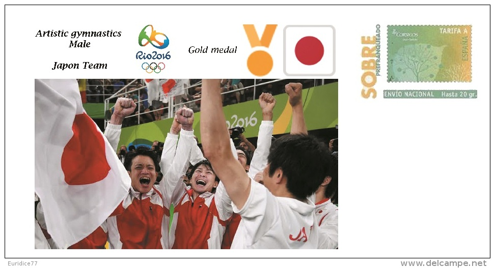 Spain 2016 - Olympic Games Rio 2016 - Gold Medal - Artistic Gymansitcs Male Japon Cover - Juegos Olímpicos