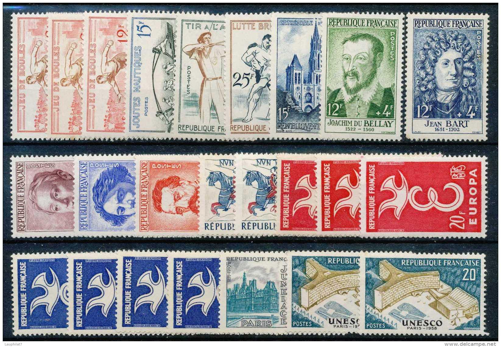 France 1950Â… , B/TB, Petit Lot De Timbres **/mnh Et */mh, +20e - Ongebruikt