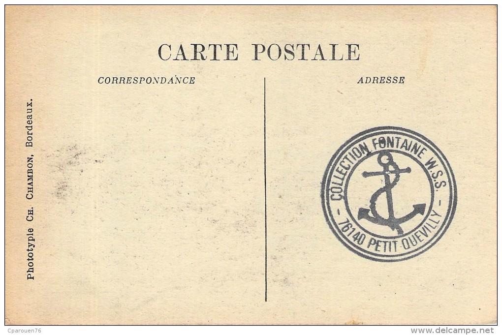 """C P A Bordeaux  Paquebot Postal  Identifié """" Gallia    """" Compagnie De Navigation Sud  Atlantique - Paquebots"""