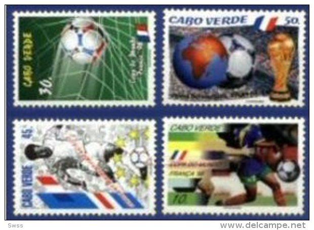 CAPE VERDE, 1998, FRANCE, WORLD SOCCER CHAMPIONSHIP, R#381-84, MNH - Kap Verde