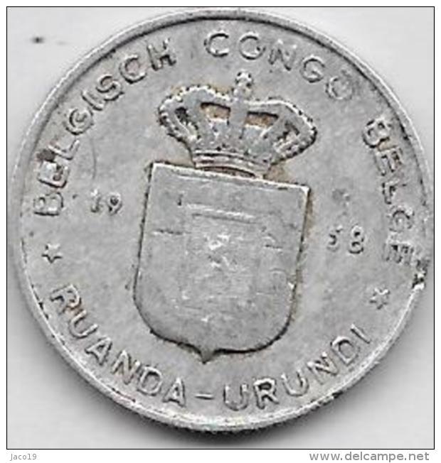 1 Franc Alu 1958 - Congo (Belga) & Ruanda-Urundi