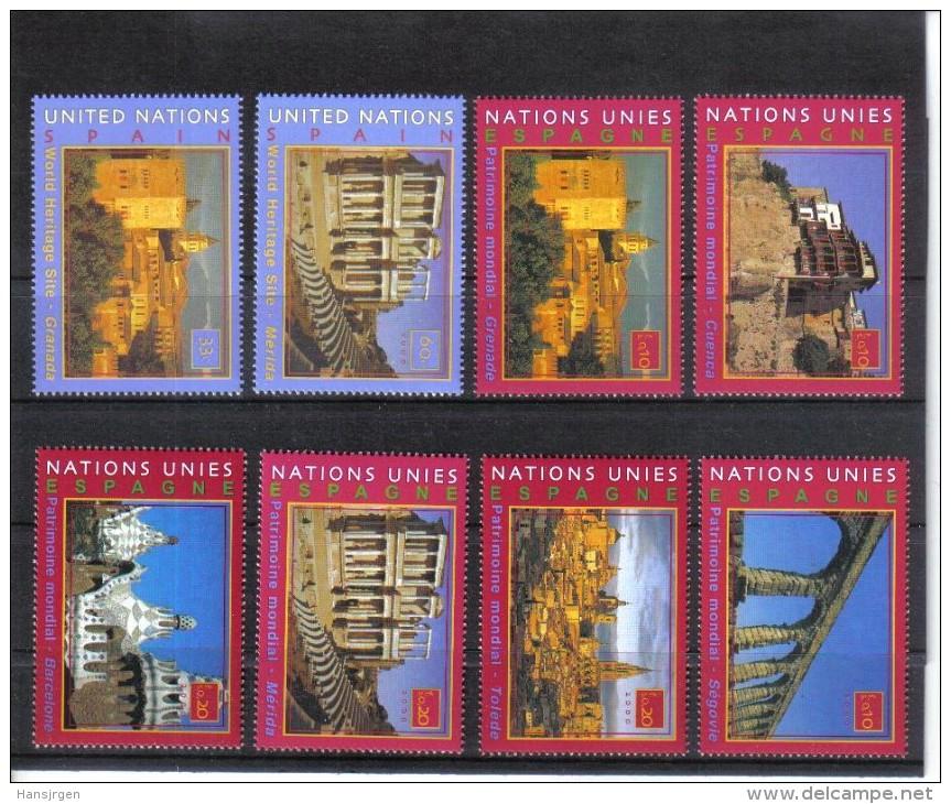 POL1644 UNO New York 2000 Michl 846/47  848/53  BOGEN Und MARKENHEFT - MARKEN ** Postfrisch - New York -  VN Hauptquartier