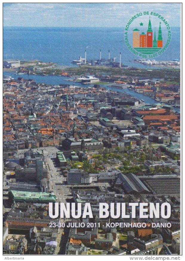 Esperanto 1st Bulletin Congress 2011 Copenhagen - Unua Bulteno Universala Kongreso 2011 Kopenhago - Boeken, Tijdschriften, Stripverhalen