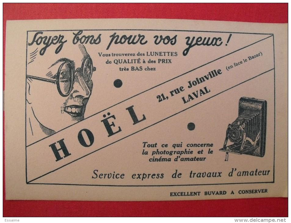 Buvard Hoël à Laval. Lunettes Photographie. Vers 1950. Illustration - Buvards, Protège-cahiers Illustrés