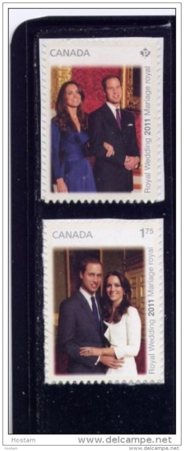 CANADA, 2011,  #2466-7,  ROYAL WEDDING - Carnets