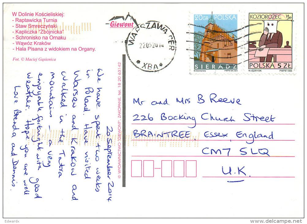Dolinie Koscieliskiej, Poland Postcard Posted 2014 Stamp - Poland