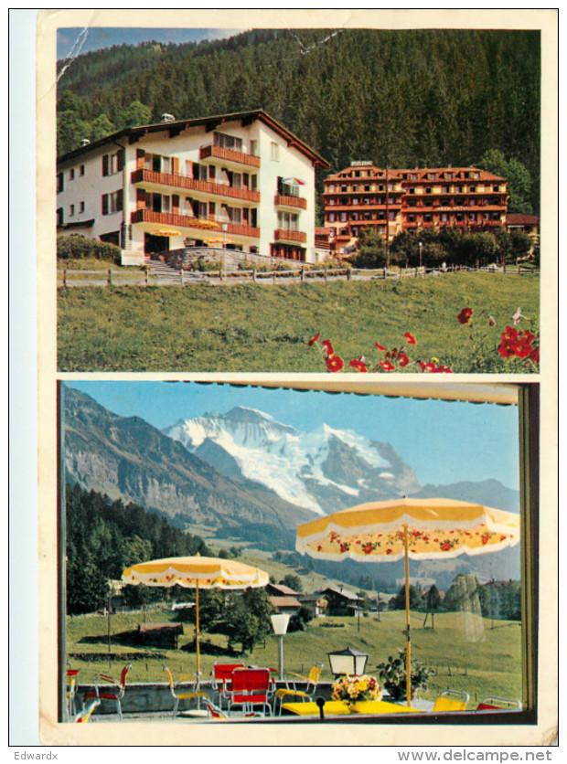 Park Hotel, Wengen, BE Bern, Switzerland Postcard Posted 1966 Stamp - BE Berne